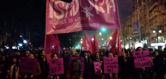 Chile: desde Isadora repudiamos los intentos de asesinato a 3 compañeras, vividos durante la marcha de ayer ¡Ya no les tenemos miedo!